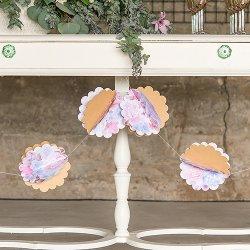3D Flower Paper Garland