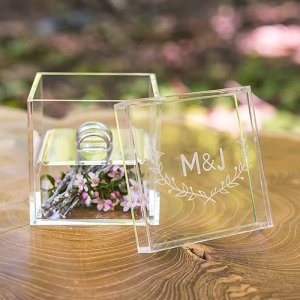 Personalized Acrylic Ring Box