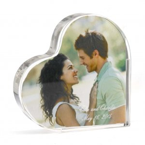 Personalized Photo Heart Cake Topper