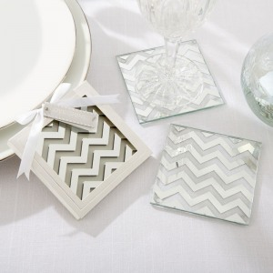 Mirrored Chevron Coasters