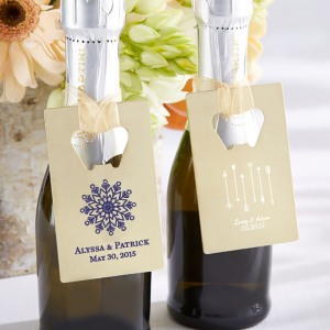 Personalized Credit Card Bottle Opener Favors