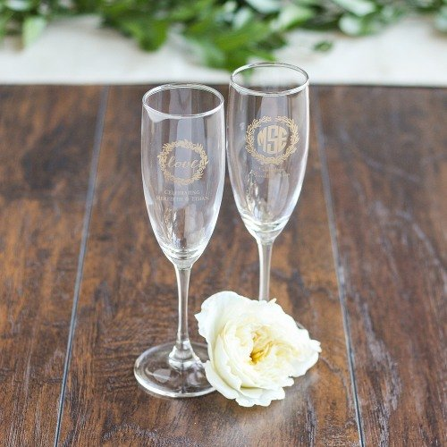 Personalized Champagne Flute Favors