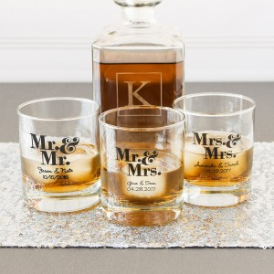 Personalized Rocks Glass