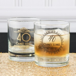 Personalized Birthday Rocks Glass