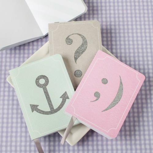 Glitter Icon Notebook Favors