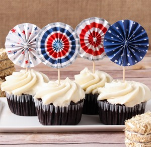 Stars & Stripes Pinwheel Toppers