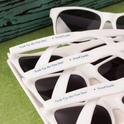 Sunglasses with Personalized Labels