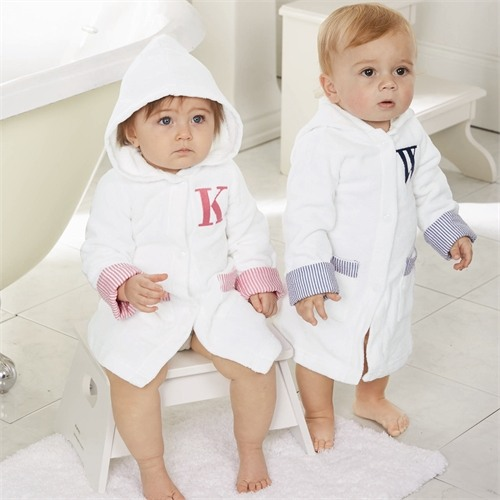 Initial Baby Bath Robes
