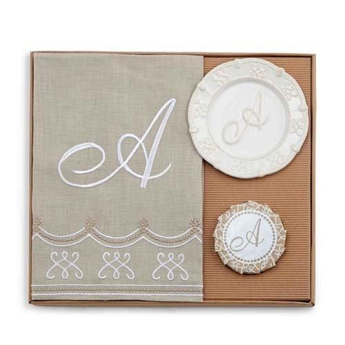 Monogram Towel & Soap Gift Set