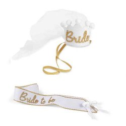 Bride Sash and Crown