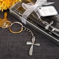 Beaded Chrome Silver Key Chain