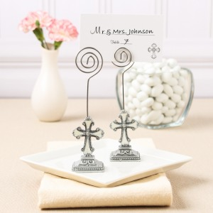 Decorative Cross Place Card/Photo Holders