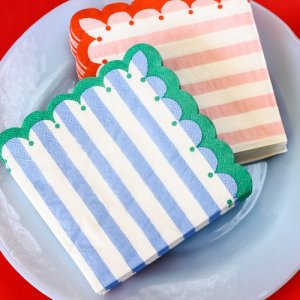 "Toot Sweet Stripe 5"" Party Napkins"