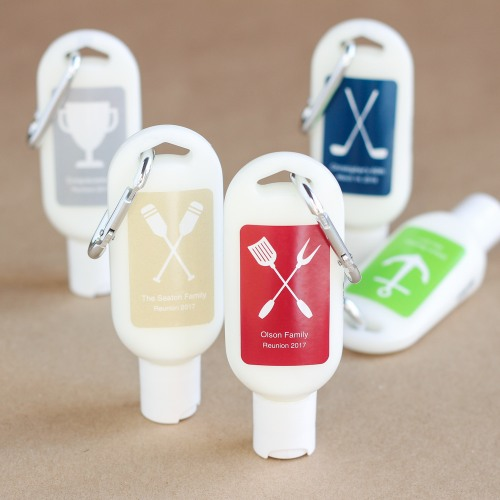 Personalized Party Sunscreen with Carabiner