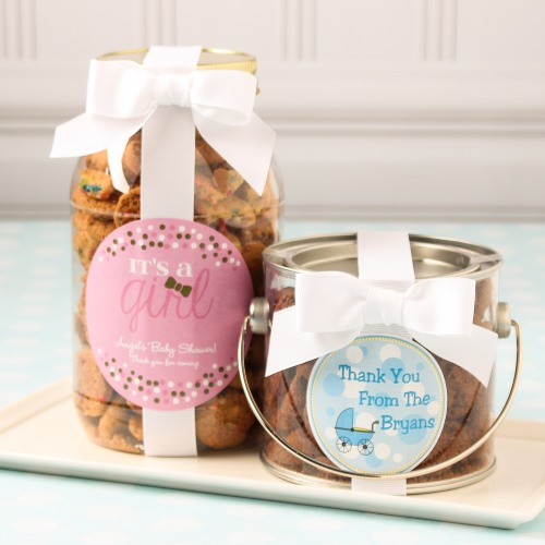 Personalized Baby Shower Cookie Gift Jars