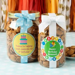 Personalized Birthday Cookie Gift Jars