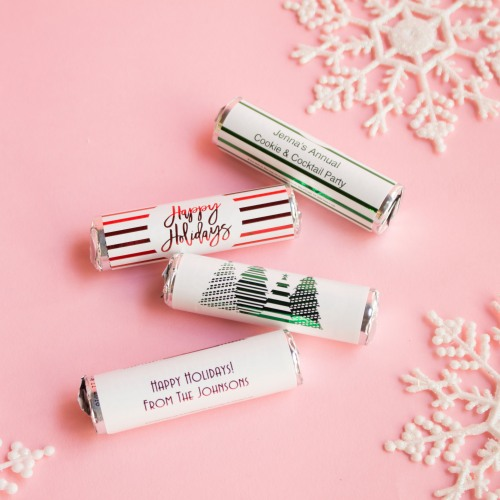 Personalized Holiday Mint Rolls