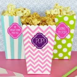 Personalized Popcorn 'n Treats Boxes