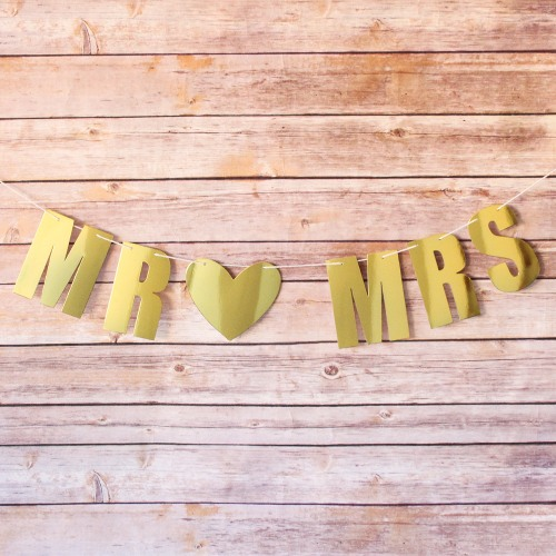 Personalized Wedding Foil Letter Garland
