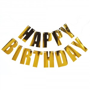 Personalized Foil Letter Garland