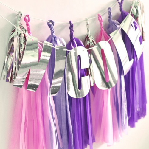 Personalized Foil Letter Garland with Tassel Garland