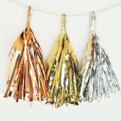 Metallic Mini Tassels