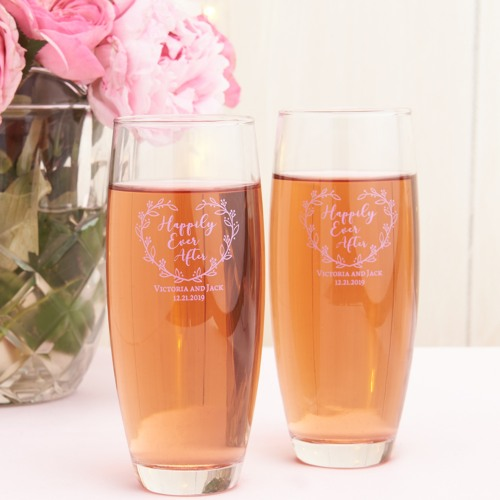 Personalized Stemless Happily Ever After Champagne Flute