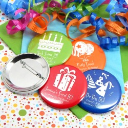 Personalized Birthday Button Pin