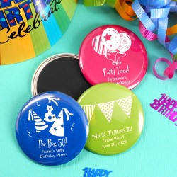 Personalized Birthday Button Magnet