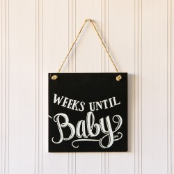 Baby Countdown Chalkboard Sign