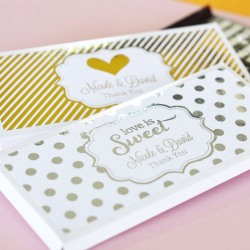Personalized Wedding Metallic Foil Candy Covers