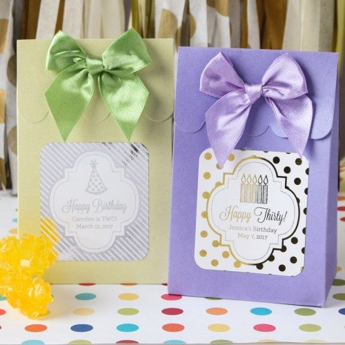 Personalized Birthday Metallic Foil Candy Bags