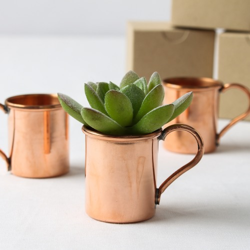 mini copper moscow mule mug favors - Mule Mug