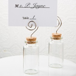 Glass Jar Place Card Holder