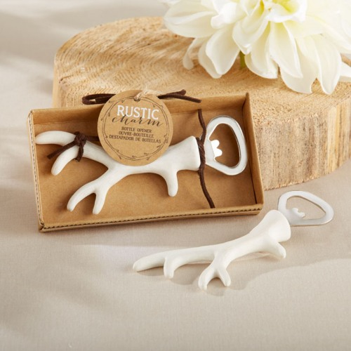 White Antler Bottle Opener