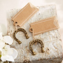 Place Cards with Mini Horseshoes