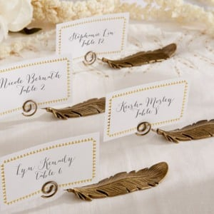 Feather Place Card Holders