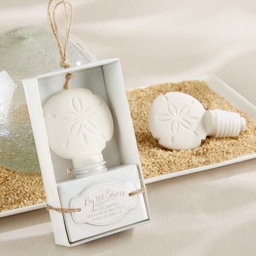 Ceramic Sand Dollar Bottle Stopper
