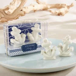 Ceramic Anchor Salt and Pepper Shakers