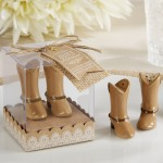 Ceramic Cowboy Boot Salt and Pepper Shakers