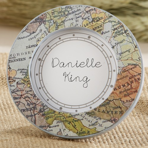 Vintage Map Place Card Holder Frame