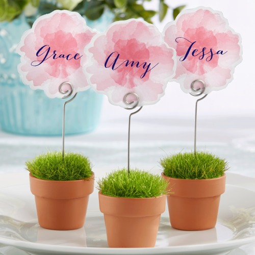 Flower Pot Place Card Holders