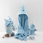Terry Shark 4-Piece Bath Gift Set