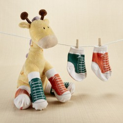 Plush Giraffe with Socks Gift Set