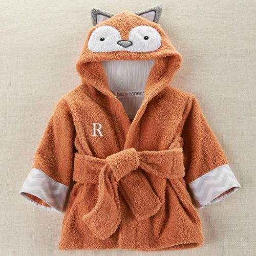 Personalized Fox Hooded Bath Robe