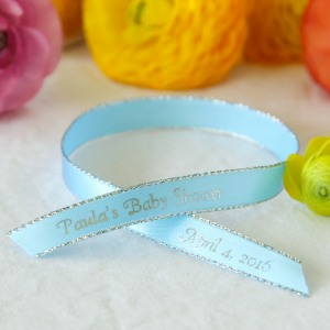 Personalized Metallic Edge Favor Ribbon