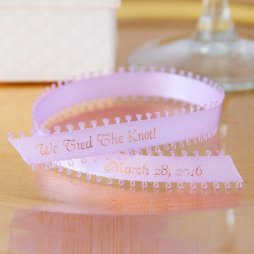 Image of Personalized Picot Favor Ribbon