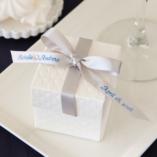 Personalized Swarvoksi Crystal Favor Ribbon