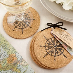 Compass Cork Coasters