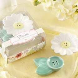 Flower Blossom Ceramic Salt and Pepper Shakers